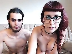 Nerd that is redhead gets her cunt attached on livecam