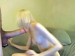 HD blonde webcam facial