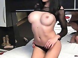 Bigtits cam inserts a gadget up her cunt
