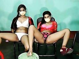 Indian lesbian - webcam teasing
