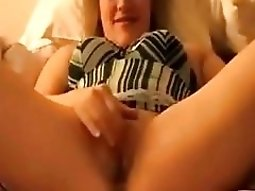 blacks on blondes girl teases her bf by masturbating and fucks the horny bastard