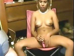 Cute pigtailed black girl fucks her white bf
