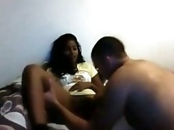 Hot Ebony Girl Gets Her shaved Pussy Eaten Out While She Watches Cartoons