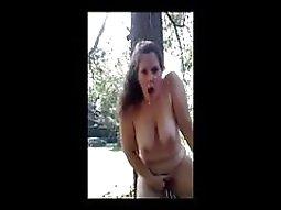 my masturbation challenge in a public park
