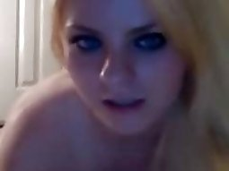 Busty cute blonde Playing her Tight Shaved snatch