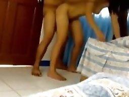 Thai Girl Fucks Her Man On Camera