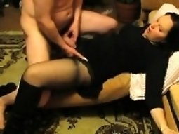 Brunette slut loves fucking and fingering