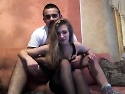 Sexy couple on cam having a good time