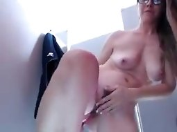 Doing a webcam session in a public changing room