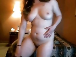 Hot Chubby Teen GF smoking weed on cam