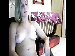Sweet unshaved pussy self fucking At Home