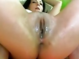 webcam beauty and her very soaked twat