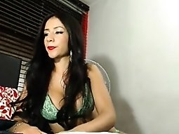 Sexy girl puts on her new lingerie and displays her phenome