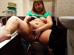BBW Rubs Her Pussy and Sniffs Panties