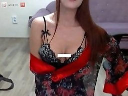 WinkTV Korean BJ Semi (세미) stripping on webcam 20