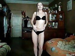 My girlfriend on the webcam