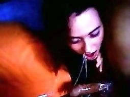 Very Messy Gagging chick giving head