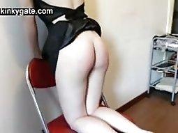 Spanking my sub Nathalie without pitty