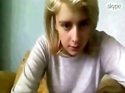 Cute blond teen Shows Off Her Pussy And Ass On Skype For Her BF