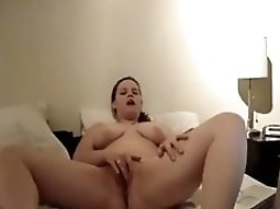 chunky Girl Watches Porn On Her Laptop And Masturbates