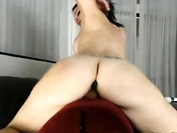Hot Babe Anal Plug and Dildo Swallowing